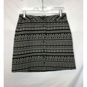 Maeve Anthropologie Geometric Print Pencil Skirt 6